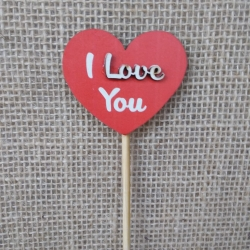 Plaquinha Pick MDF (I love you)